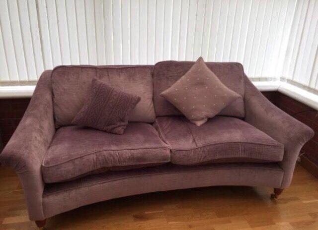 Laura Ashley Reigate Large Sofa In Villandry Amethyst