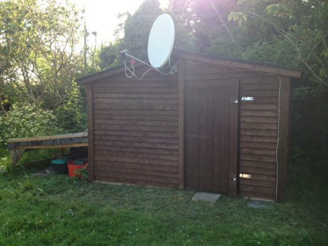 How to build a shed foundation on a slope resin storage for Garden shed repair parts