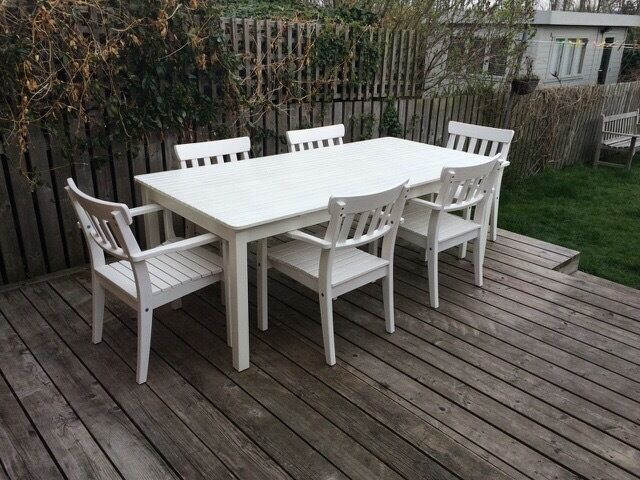 Ikea Aspelund Bedroom Furniture ~ IKEA ÄNGSÖ White outdoor dining set