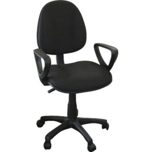 A Black Fabric Swivel Adjustable Office Chair With Arms United Kingdom G