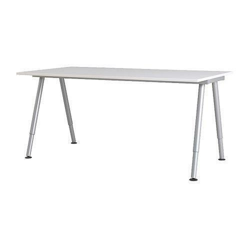 Ikea galant white desk 120x60cm with adjustable height for Table pliante ikea