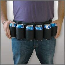 Redneck 6 Pack Beer & Soda Can Holster Belt - BLACK
