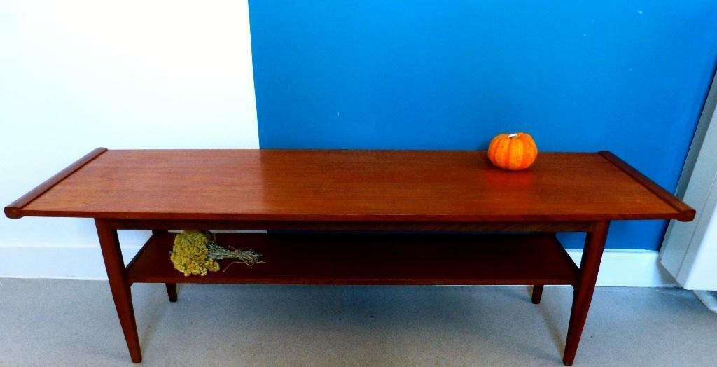 Danish teak coffee table c 1960 vintage retro united for Coffee tables gumtree