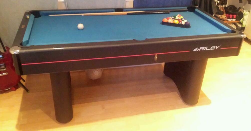 Riley pool table 6x3 foot united kingdom gumtree for 10 foot pool table