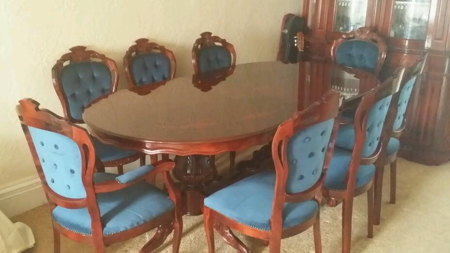 8 seater mahogany dining table and chairs United Kingdom  : 86 from www.gumtree.com size 928 x 522 jpeg 50kB