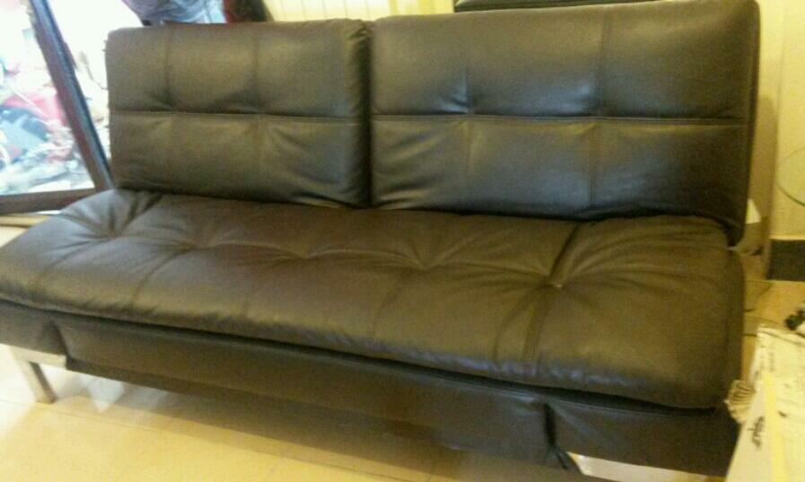 Like New Brown Leather Sofa Bed Collect Lu4 United