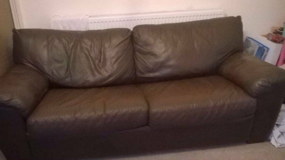 2 brown leather sofas one sofa bed 30 for both united kingdom gumtree. Black Bedroom Furniture Sets. Home Design Ideas