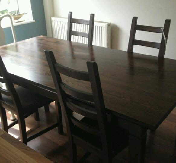 wooden dining table and 4 chairs united kingdom gumtree