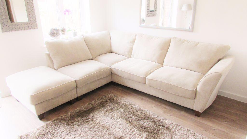 Corner sofa furniture village nearly new united for Furniture village sofa