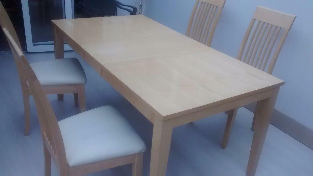 maple table and chairs united kingdom gumtree
