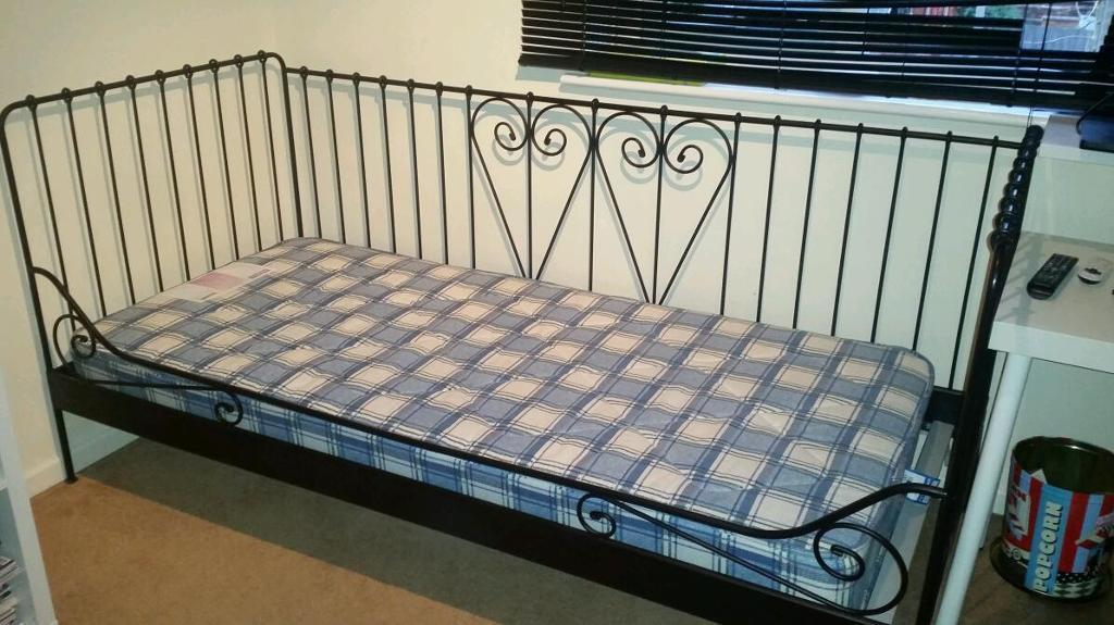 Ikea black metal daybed frame Buy, sale and trade ads