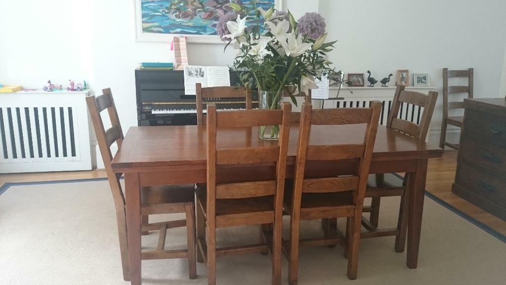 large dining room table seats 6 extends to 10 8