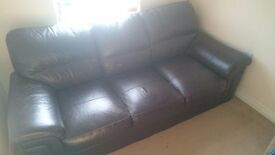 black/brown leather sofa - excellent condition £60! Need fast sale