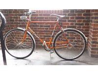Raleigh squiere steel retro classic uni bike town bike 1960's/70's flat bar fully working