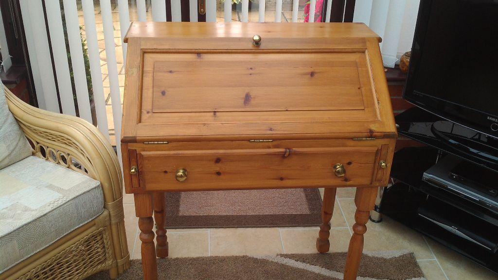 pine writing desk