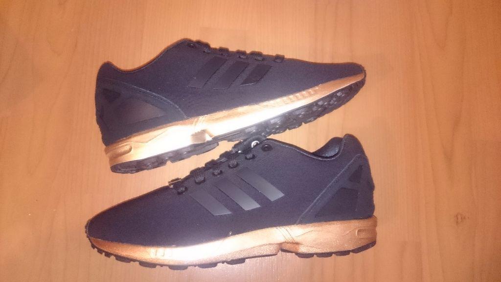 adidas zx flux noir gold