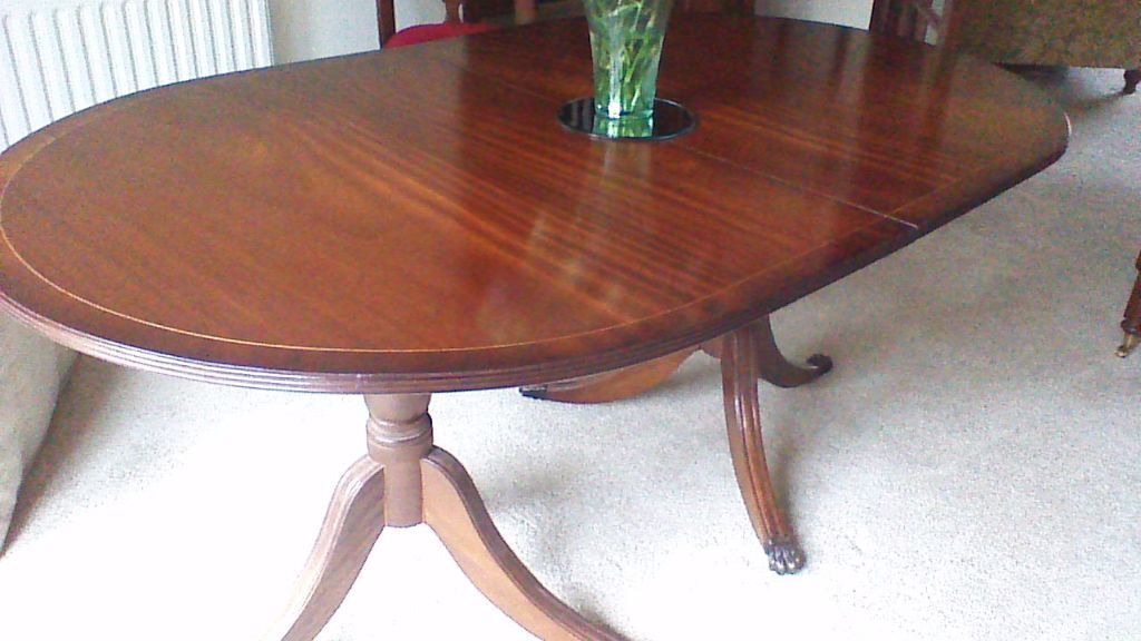 Mahogony dining table matching corner unit also available