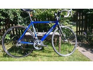 Ribble 7005 road bike. 55 cm (medium ). 18-speed Shimano Tiagra, carbon forks.