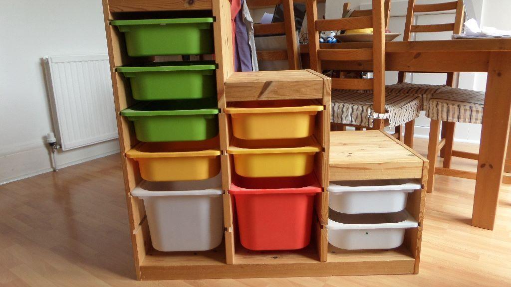 Ikea Kitchen Island Refinish ~ IKEA TROFAST PINE STORAGE UNITS WITH DRAWERS FOR SALE Two IKEA Trofast