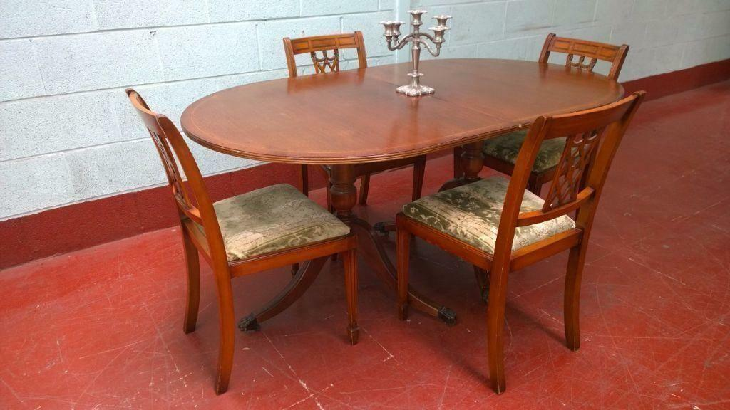 Regency Style Dining Table 4 Chairs DELIVERY AVAILABLE United Kingdom