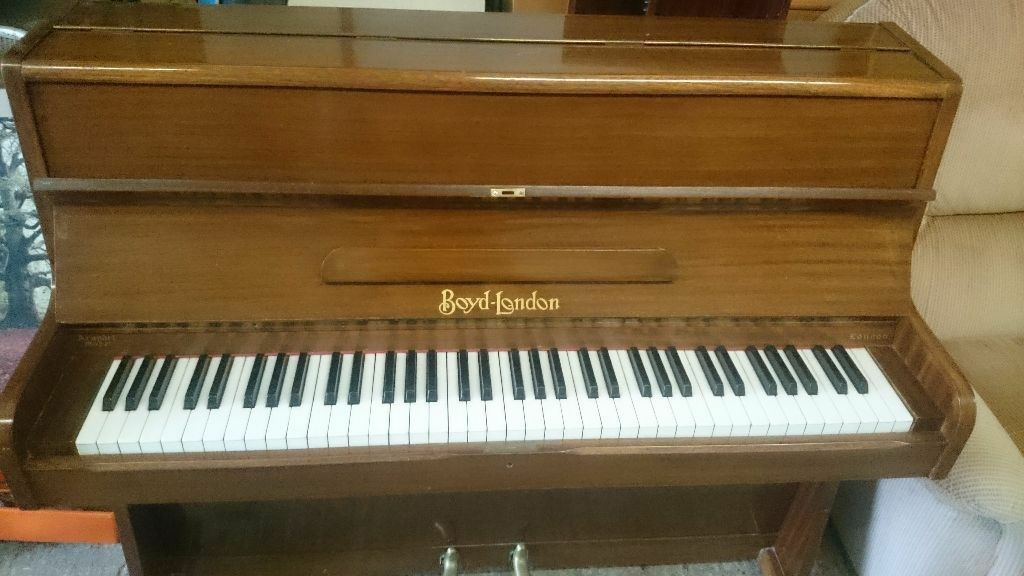 Lovely small upright piano made by boyd london boyd london for Small upright piano dimensions