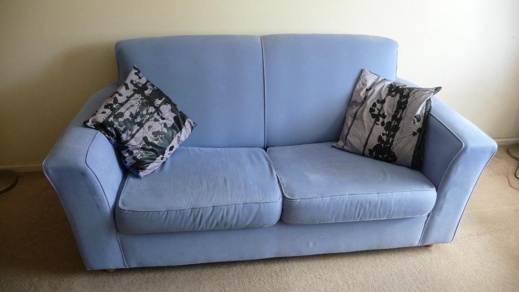 Light blue habitat sofa bed united kingdom gumtree for Sofa bed clearance