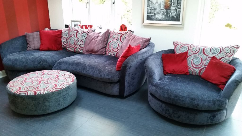 Black Grey Corner Sofa And Matching Buy Sale And Trade Ads