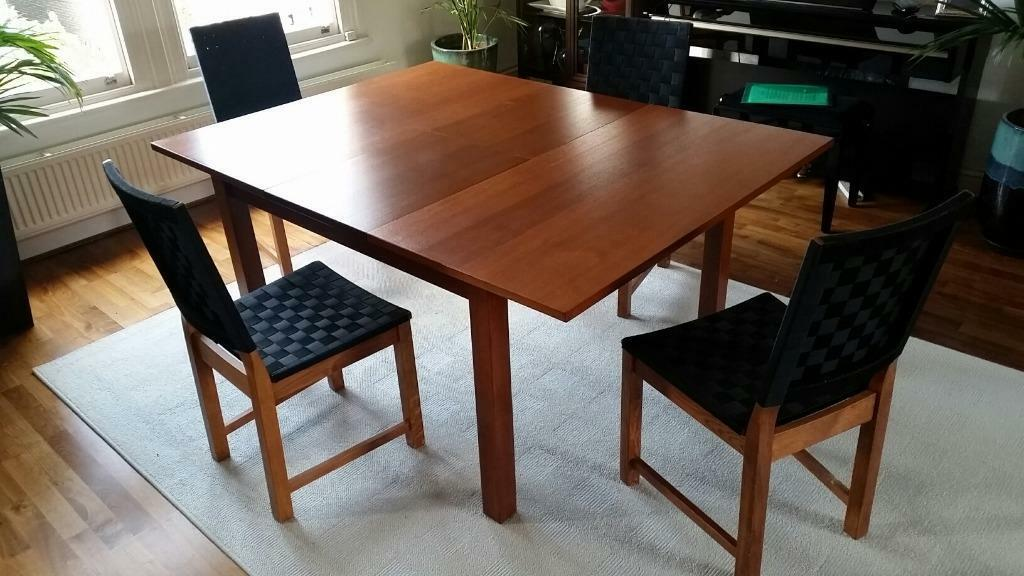 IKEA walnut extendable dining table 6 chairs United  : 86 from www.gumtree.com size 1024 x 576 jpeg 86kB