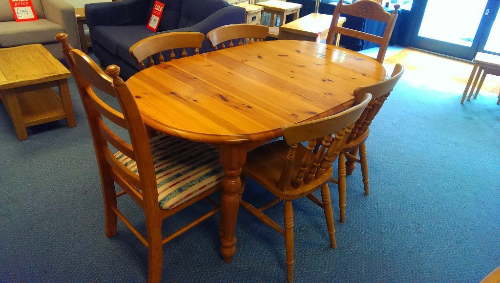 Solid Pine Dining Table 6 Chairs United Kingdom Gumtree
