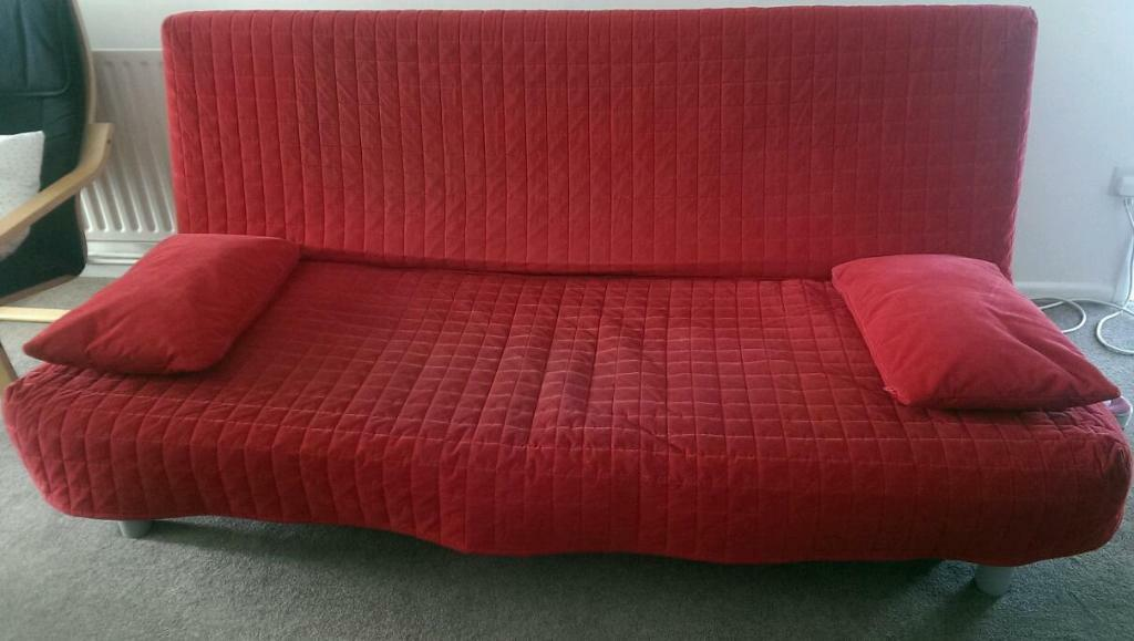Ikea Beddinge Sofa With Red Cover United Kingdom Gumtree