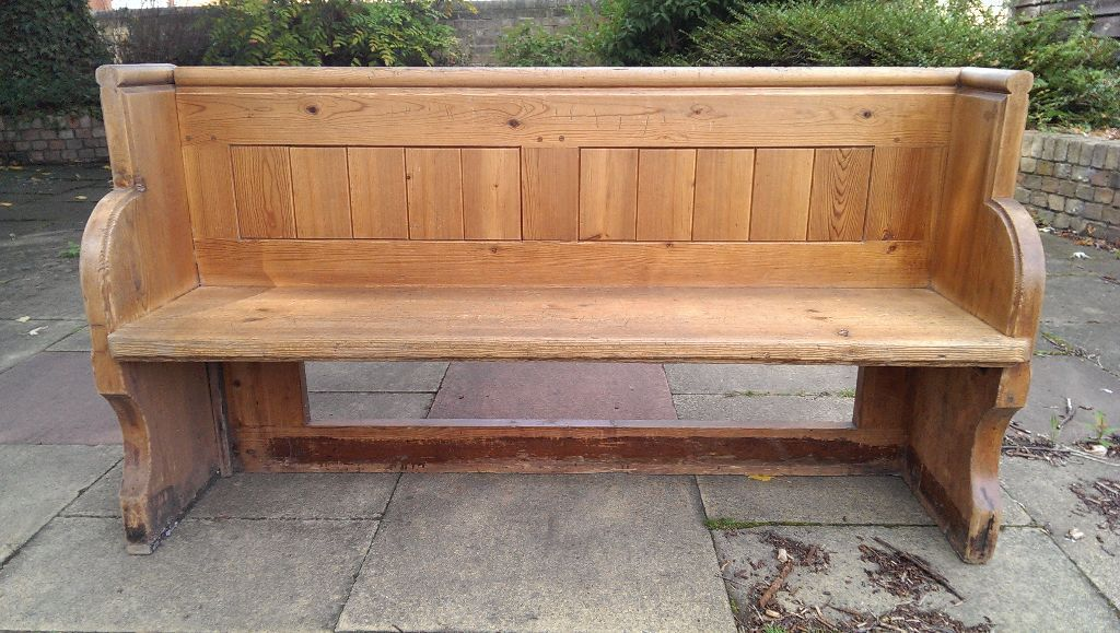 Solid Pine Genuine Reclaimed Church Pew Solid Pine Pew In