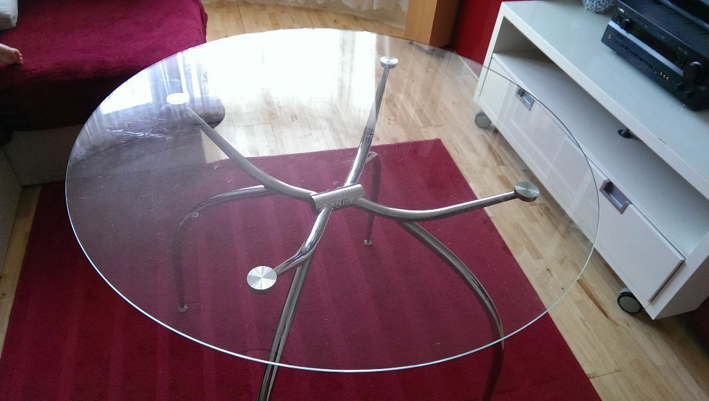 Glass dining table transparent Buy sale and trade ads : 86 from dealry.co.uk size 1024 x 579 jpeg 73kB
