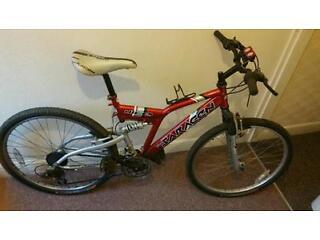 Mans 26 inch sarceen full suspension push bike