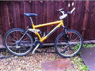Kona sex three full suss mountain bike