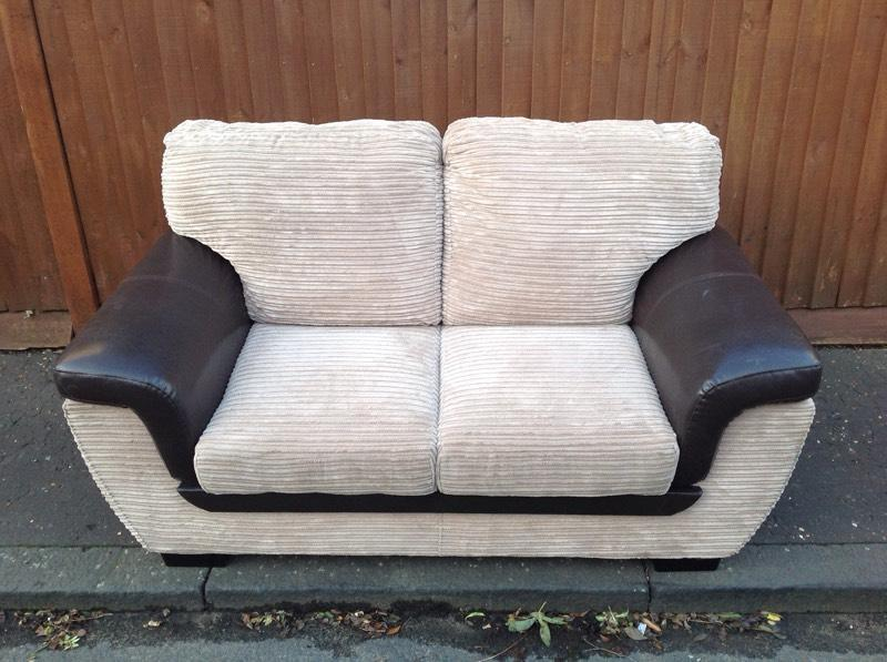 Texas brown corduroy leather sofa united kingdom gumtree for Brown corduroy couch