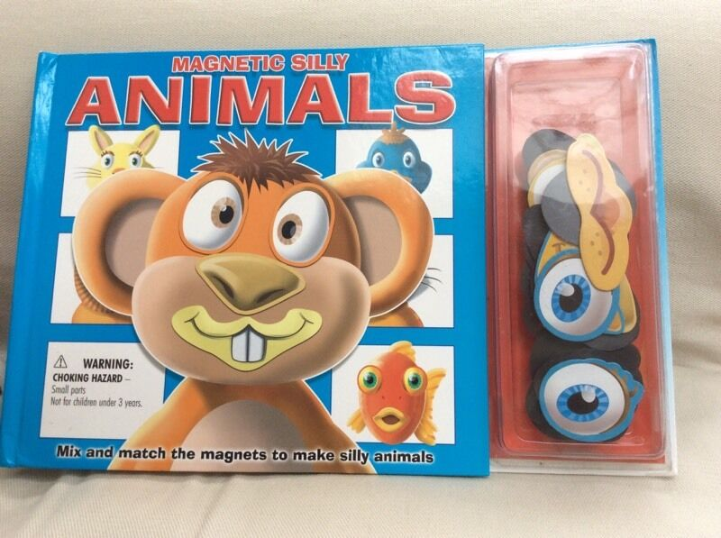 Magnetic Silly Animals Book Kids Magnetic Silly Animal