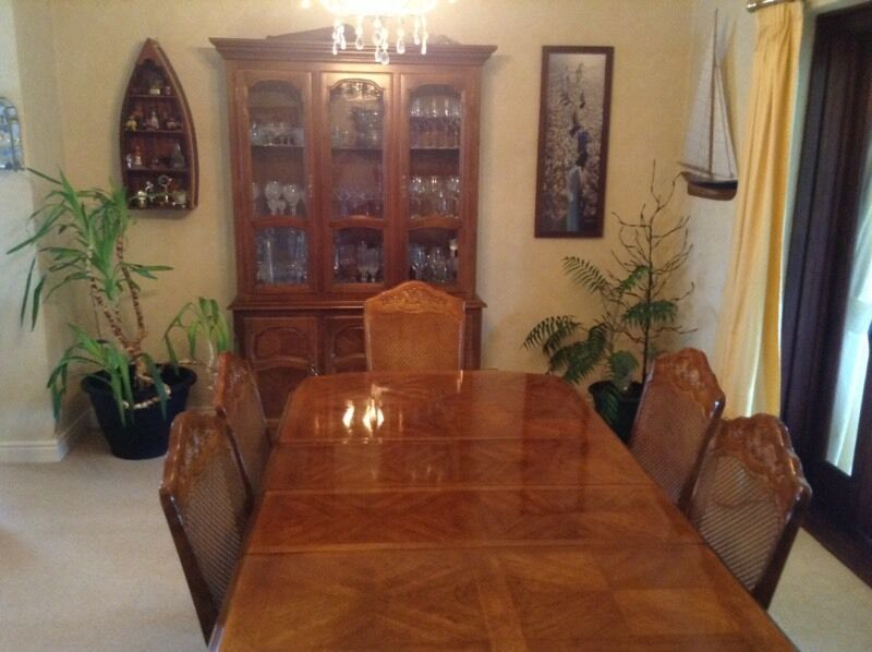 dining table and chairs pecan wood buy or sell find it used