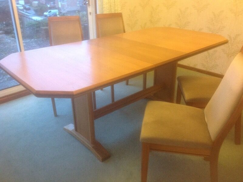 dining room table and 4 chairs united kingdom gumtree