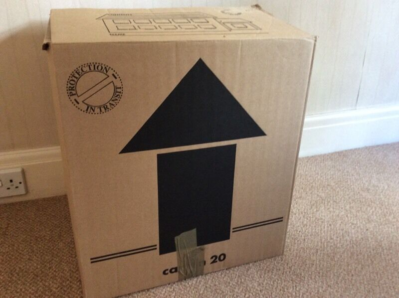 Cardboard house move boxes 60plus household moving boxes for Used boxes for moving house