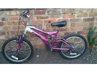 5 to 10 girls universal full suspension push bike