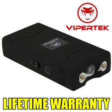 VIPERTEK BLACK Mini Stun Gun VTS-880 5 BV Rechargeable LED Flashlight