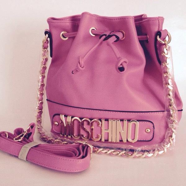Moschino Milano Bag Leather Pink Moschino Bag