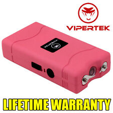VIPERTEK PINK Mini Stun Gun VTS-880 5 BV Rechargeable LED Flashlight