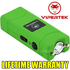 VIPERTEK VTS-881 7 BV Rechargeable Micro Mini Stun Gun LED Flashlight - Green