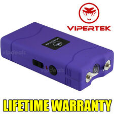 VIPERTEK PURPLE Mini Stun Gun VTS-880 5 BV Rechargeable LED Flashlight