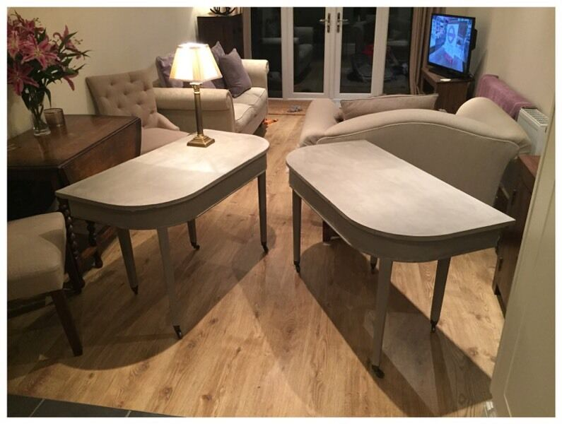 PAIR OF UPCYCLED D END HALL TABLES United Kingdom Gumtree
