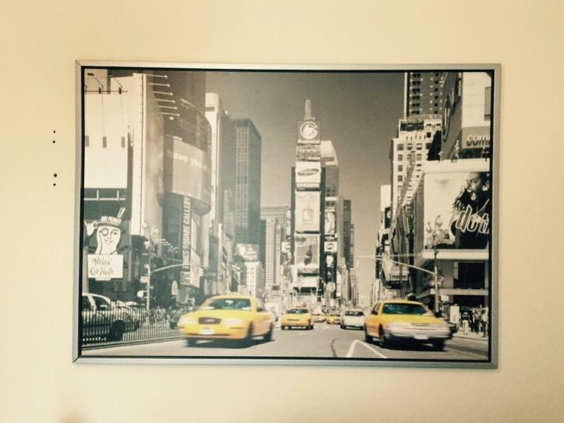 Large Ikea Canvas Print Picture Of New York Taxis United