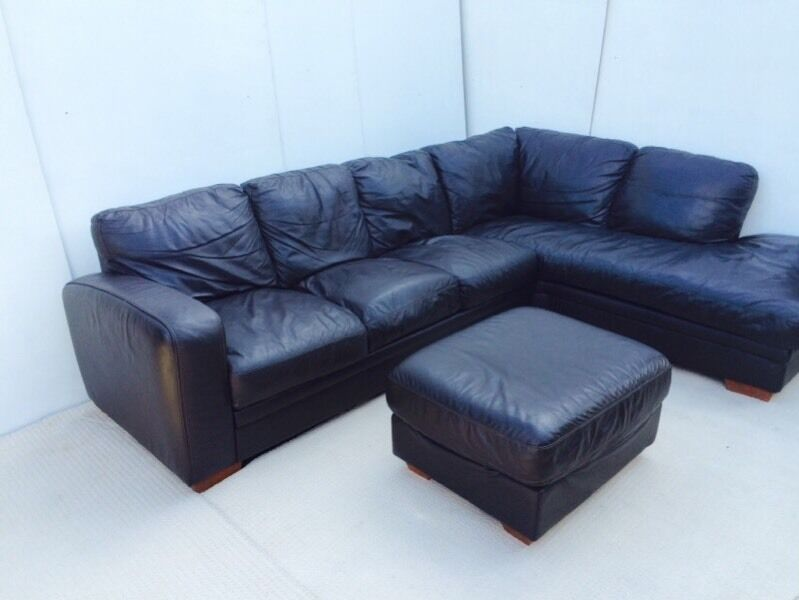 Brown Dfs Real Leather Corner