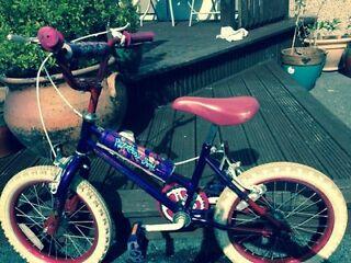 """Little Girls 16"""" purple bike for sale"""