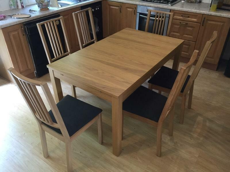 bjursta ikea dining table with 6 borje dining chairs united kingdom